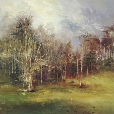 Staged in winter 80x80cm