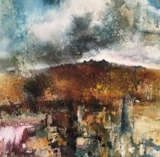 Stewart Edmondson - To walk and talk in gardens still wet with rain 59x62