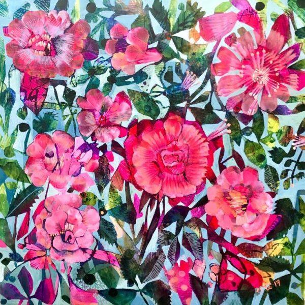 summer roses 50x50cm