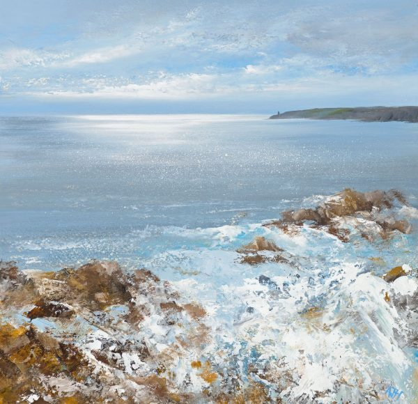 AH Oil on paper .....Winter Seas , Start Point ......£895.00