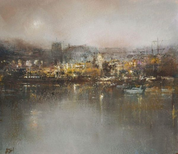 AH Oil on paper Evening at Dartmouth £545.00