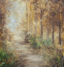 AH Oil on paper....Autumn Colours, Gallants Bower......£895.00
