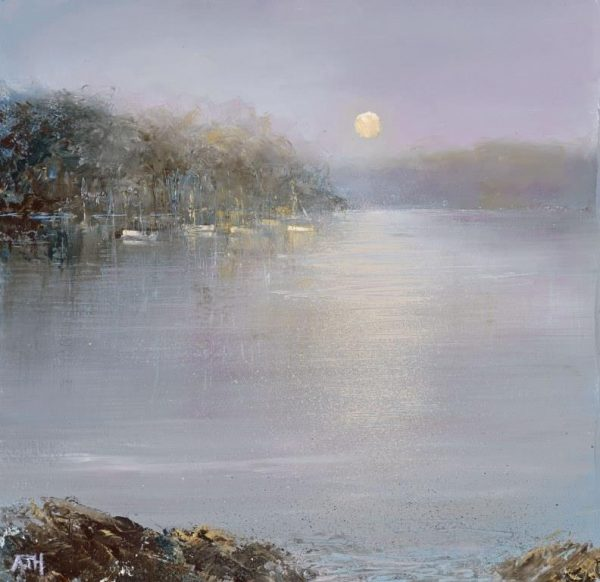 Tranquil Morning, from Bearscove....oil on paper....21 x 21cm ....£595.00