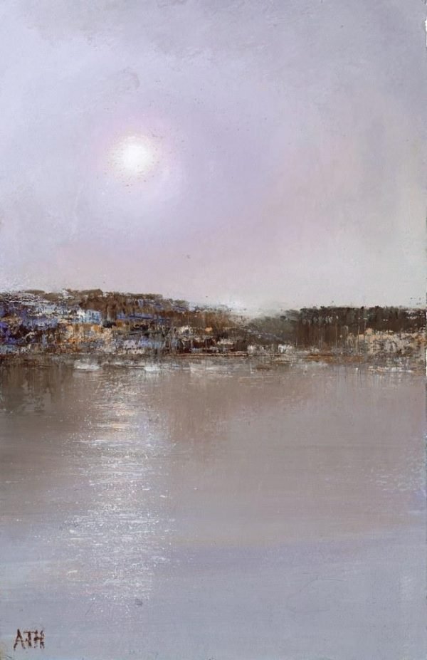 Peace and Calm settles over Kingswear....oil on paper ....21 x 14cm .....£450.00