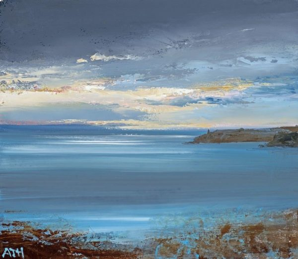 Dramatic Sky over Start Point....14 x 16cm ....oil on paper....£450.0