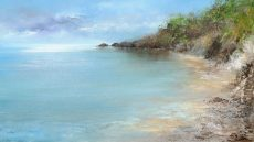 Beautiful Day at Castle Cove ....oil on paper....23 x 40cm ....£795.00