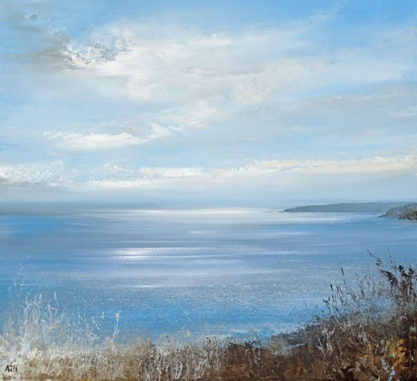 .Big Sky over Start Point....oil on paper ....43 x 48cm ....£1,250.00