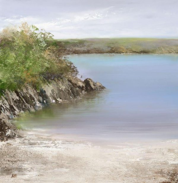 3.Tranquil Colours at Sugary Cove...oil on paper...31 x 30cm ...£795.00