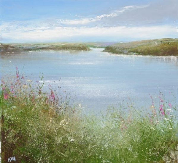 3. Wild Flowers, Salcombe....oil on paper....31 x 32cm ...£850.00