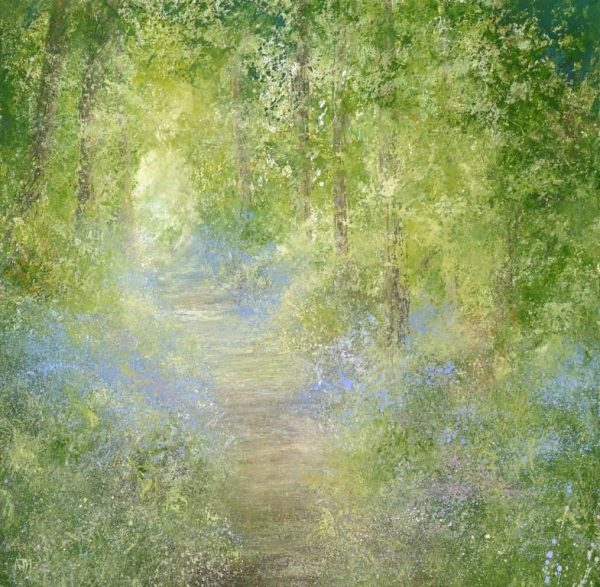 4.Bluebell Woods, Gallants Bower...oil on paper.....56 x 57cm ....£1,995.00