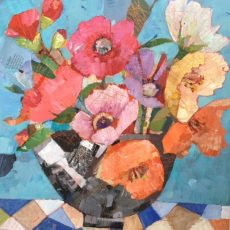 5 Rosie's Covent Garden Flowers 40 x40 cms £395