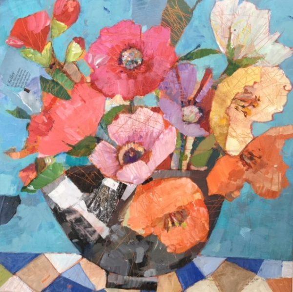 5 Rosie's Covent Garden Flowers 40 x40 cms £395