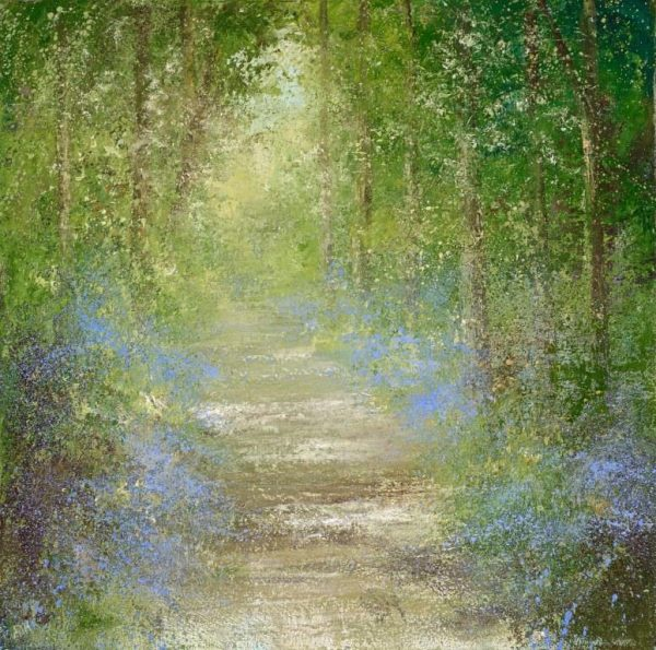 5. Beautiful Light through the trees at Gallants Bower...oil on canvas ....£2,450.00.....60 x60cm