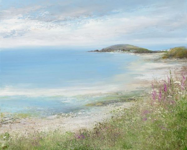 A Summer's Day at Bigbury-on -Sea....oil on paper.....45 x 57cm....£1,600.00