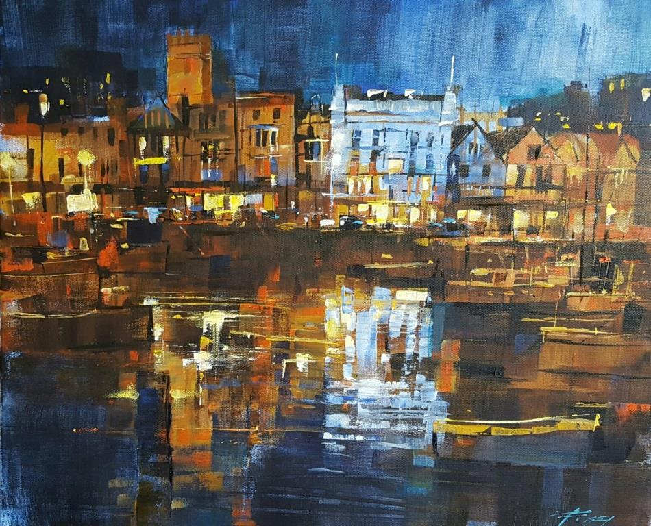 CF - Glittering reflections, Dartmouth harbour 50x60 £1295