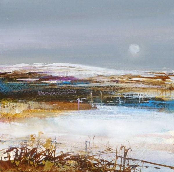Moorland Snow....watercolour sketch....12 x 12cm ....£375.00