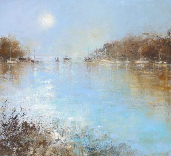 Morning Light Dartmouth.....oil on paper....19 x 15cm .....£550.00