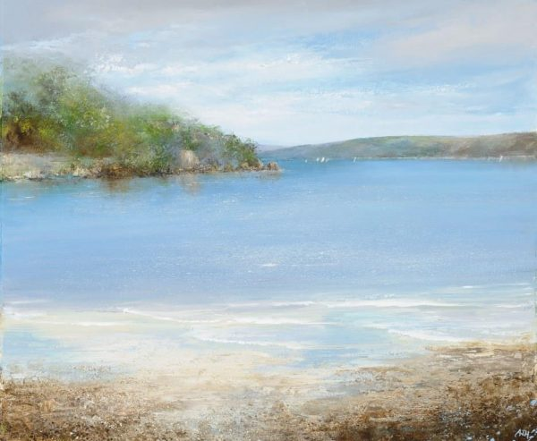The Gentle Movement of the Sea is Mesmerising, Salcombe.....oil on paper....£1,700.00