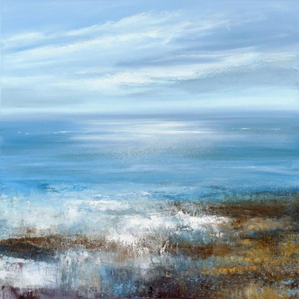 Tide Rushes in at Blackpool Sands...oil on canvas ....90 x 90cm ......£3,495.00