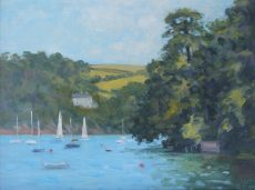 'Boats at Warfleet' Oil 30x40cm £525
