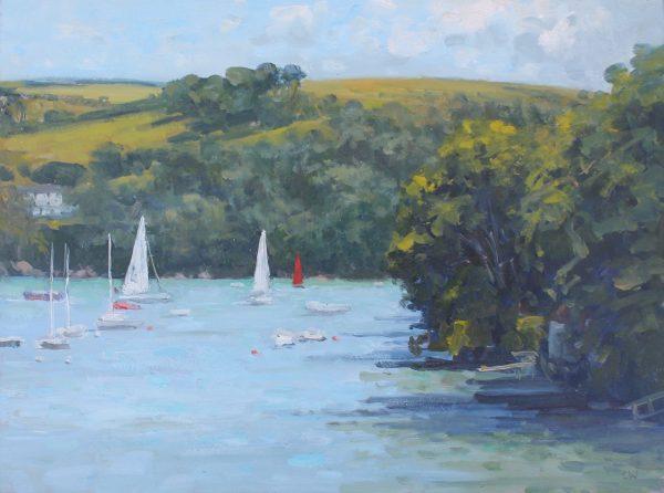 'Red sail, Warfleet' Oil 30x40cm £525