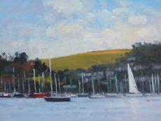 'White sail, Dartmouth' Oil 30x40cm £525