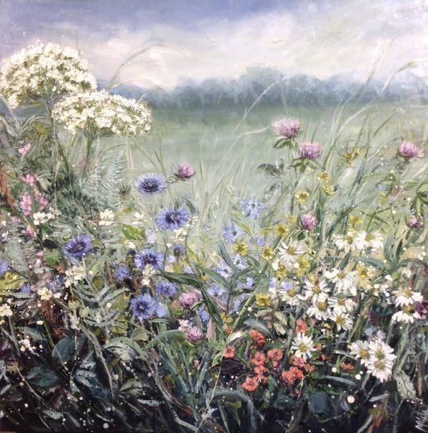 Marie Mills 'Let it bee' 80x80cm