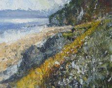 Pooch promenade - Torcross 50x40cm acrylic on panel£1600.00
