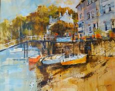 Autumn sunshine, Dittisham. 40x50 995