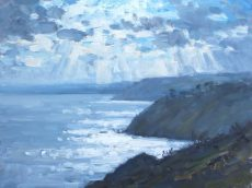 CW 'Dramatic light, Little Dartmouth' Oil 30x40cm £525