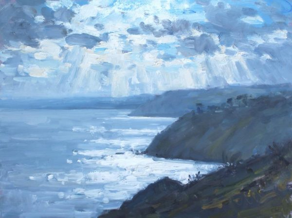 CW 'Dramatic light, Little Dartmouth' Oil 30x40cm £525