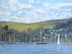 View across Dartmouth Harbour' Oil 30x40cm £525