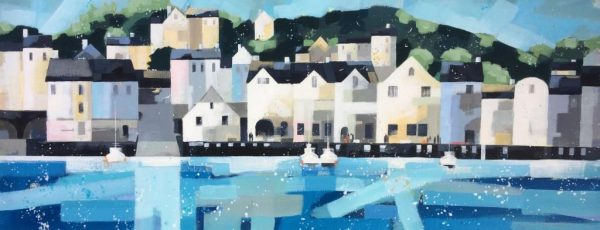 DS July, Dartmouth, 12 x 30 mixed media on canvas, £1400