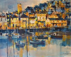 Evening lights, Brixham40x50 995