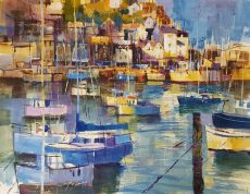 Evening sun, Brixham 40x50 950