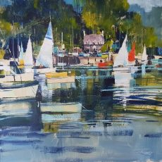 Greenway Quay, sails and refections 50x50 c 1125