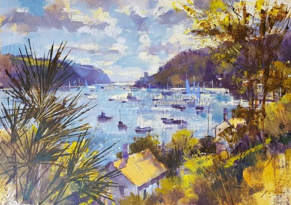 Out to Castle point, Dartmouth 36x50 995