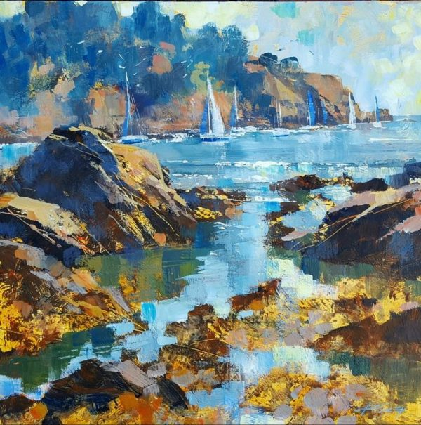 Passing the point, Dartmouth 50x50 c 1125