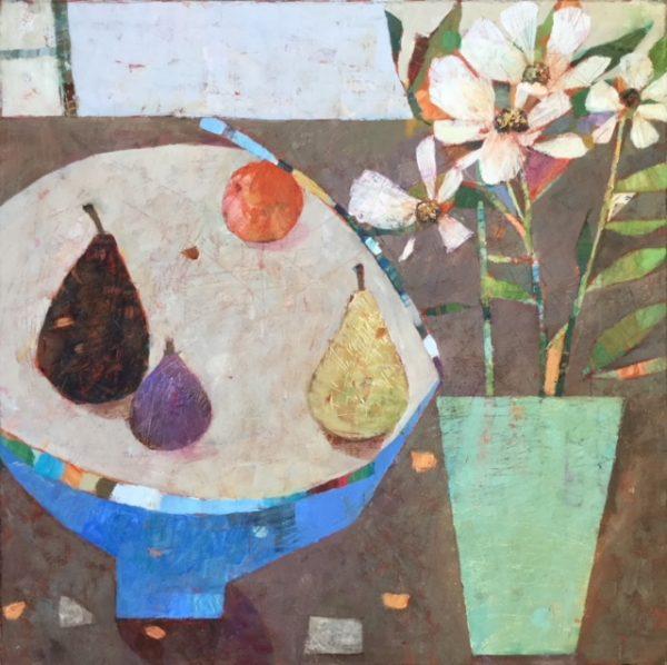 SAF Bowl of Pears 24 x24 in £865 Framed