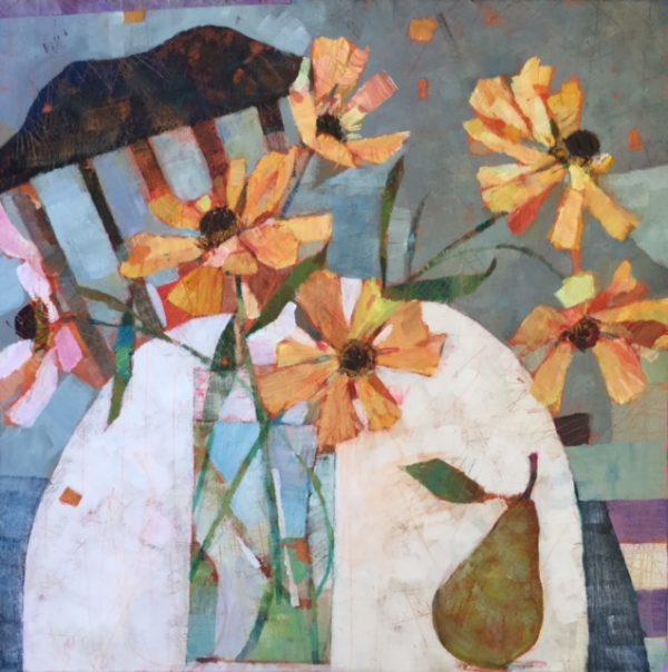 Village Flowers 24 x24 in £795