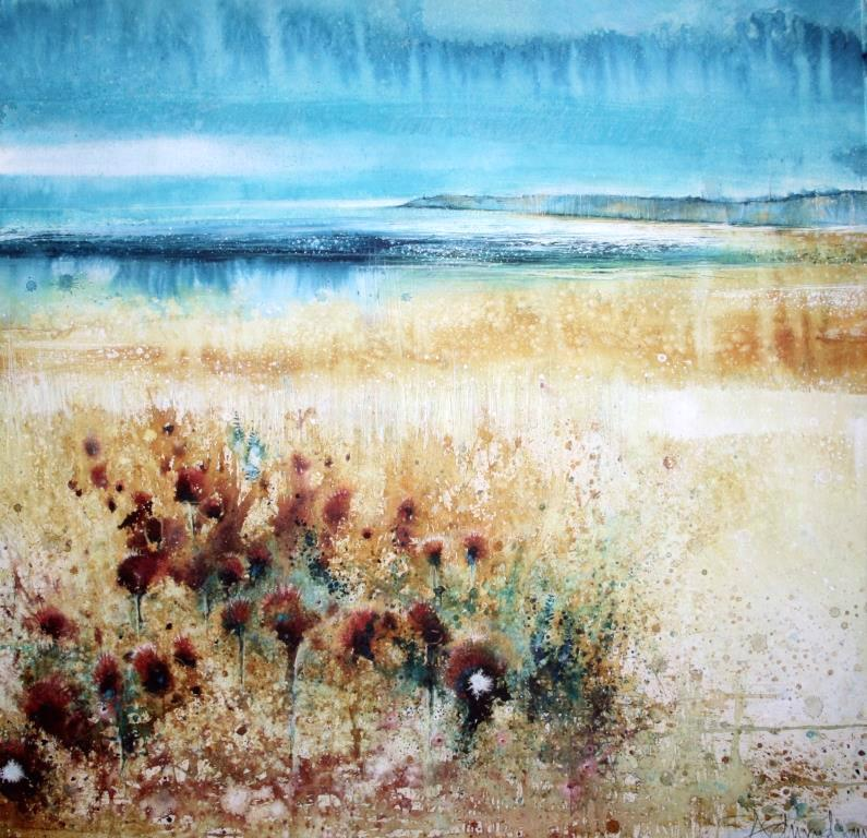 SE Loosestrife, Knapweed and Start Point (71 x 71cm)
