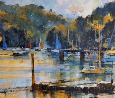 Sails and jetties, Dittisham, 50x60 c 129