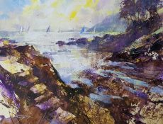 Sails, steps and low tide, Castle Cove 36x50 950