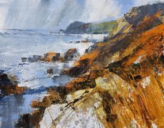Showers and sunshine, Prawle Point 28x38.