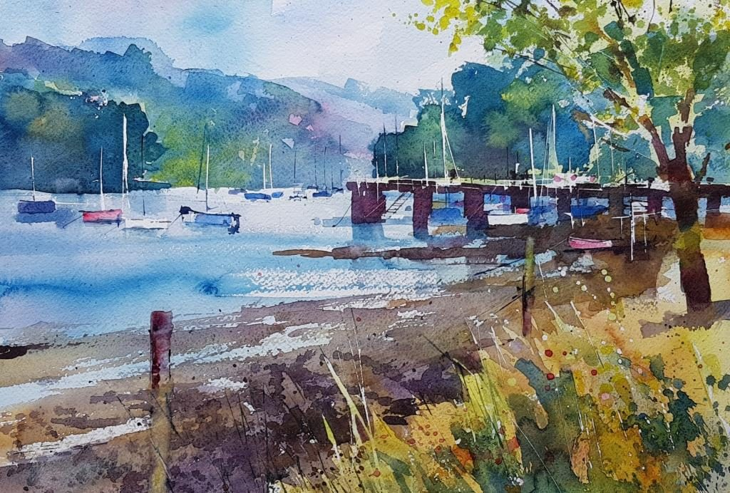 Summer morning, Dittisham36x50 950