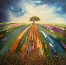 Patchwork Landscape 90x90cm £1500