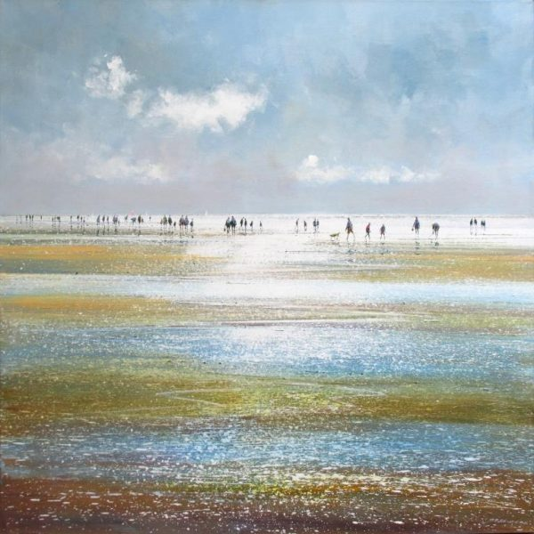 A Busy Day on the Beach Michael Sanders Dart Gallery 76 x 76 cm £1350 framed