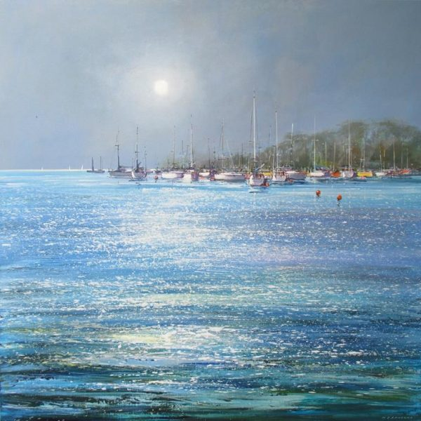 Boats in the Estuary 90 x 90cm £1595 low res