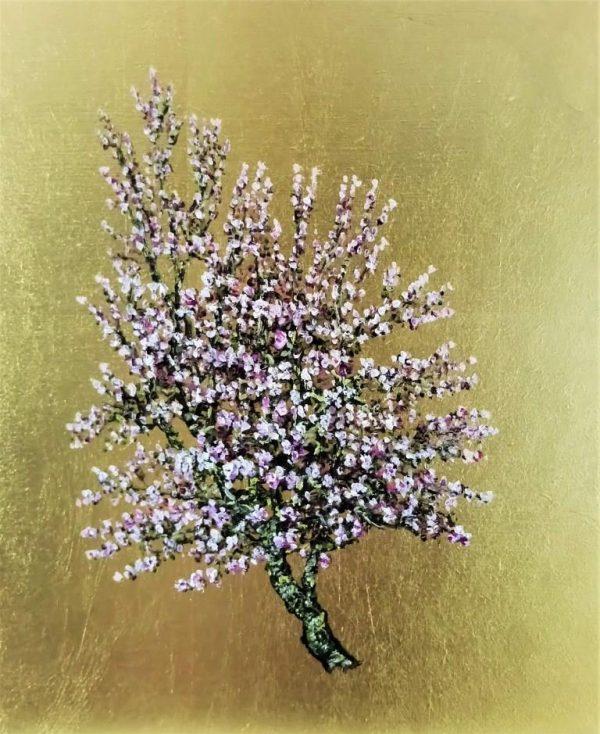 D'Arcy Spice, Oil on Gold Leaf, 26.5cm x 22cm.