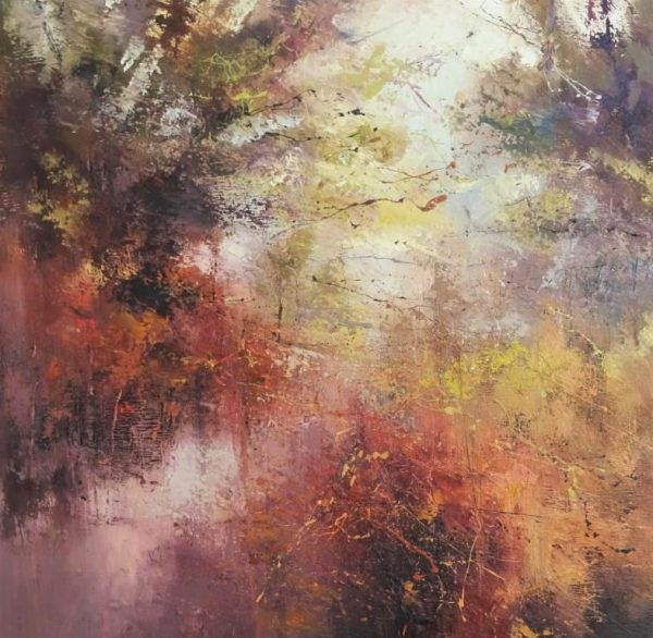 Casting red in the forest 2 80x80cm